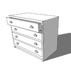 4 Drawer Base Cabinet