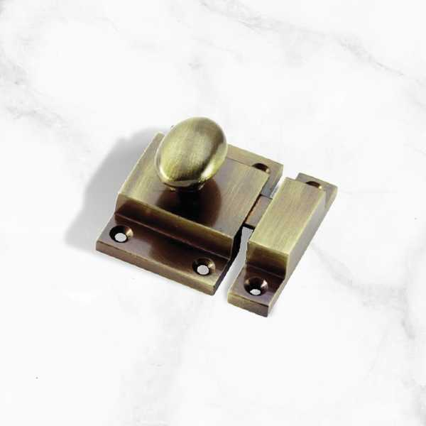 Antique Brass Cupboard Box Catch - 57mm (BSCC3)