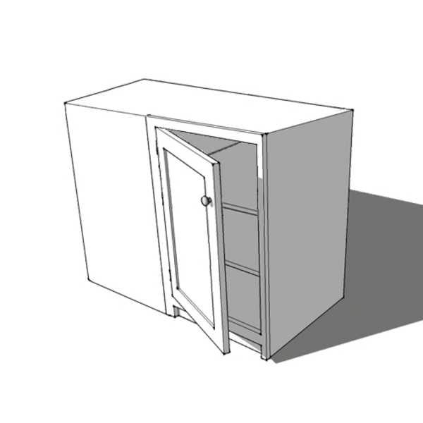 Full Door Corner Base Cabinet