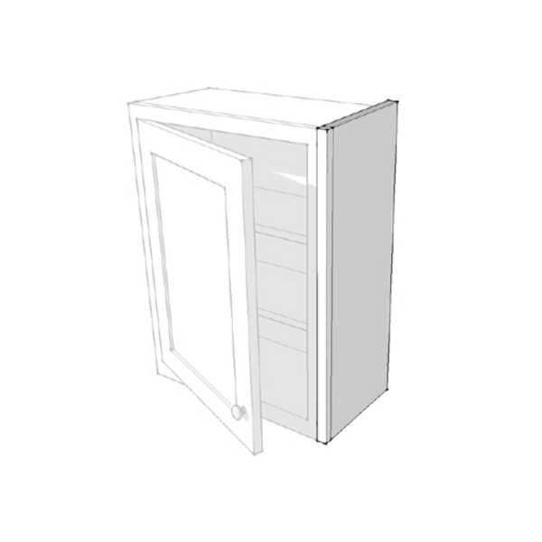 25mm Plain Tall Wall Cupboard Side Panel