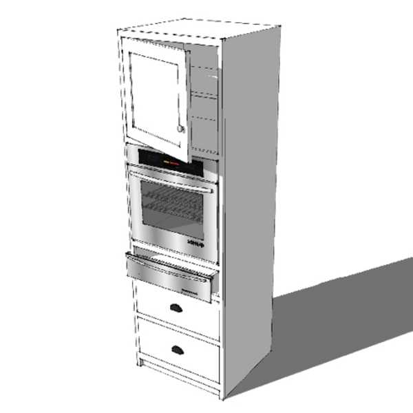 Tall Single Oven & Warming Drawer Housing