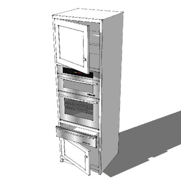 Tall Double Oven & Warming Drawer Housing